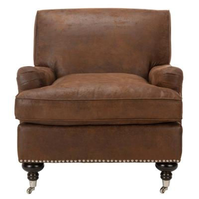 Brown – Accent Chairs – Chairs – The Home Depot Throughout Popular Lucea Faux Leather Barrel Chairs And Ottoman (View 12 of 30)