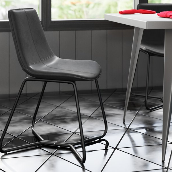Burke Upholstered Dining Chair Throughout 2020 Liston Faux Leather Barrel Chairs (View 25 of 30)