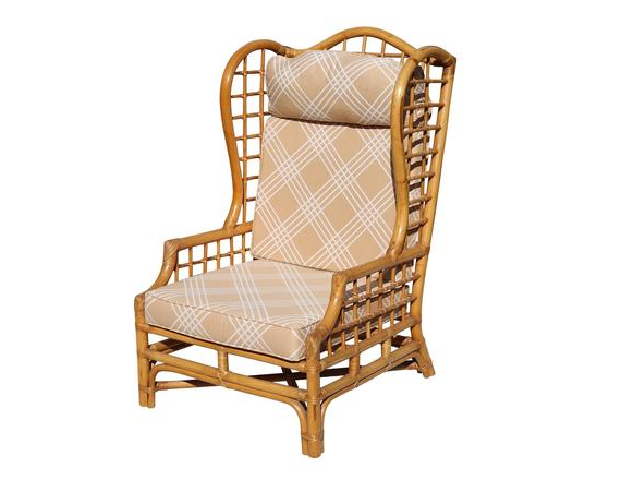 Busti Wingback Chairs For Fashionable Vintage Rattan Wingback Chair (View 25 of 30)