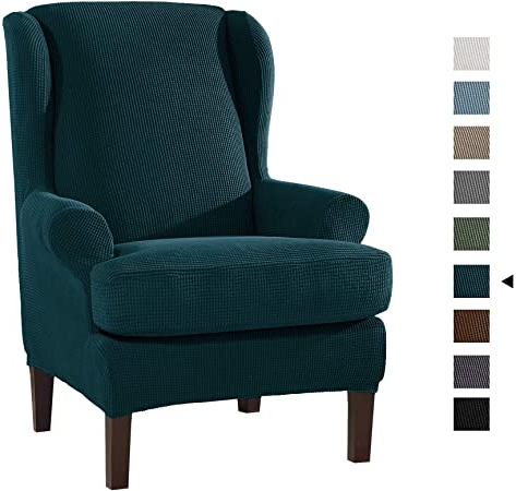 Busti Wingback Chairs For Well Known Armchair Slipcovers 2pcs Stretch Wing Chair Covers,elegant (View 19 of 30)
