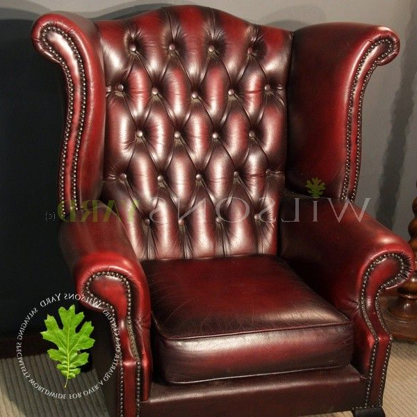 Busti Wingback Chairs In Most Recently Released Vintage Red Leather Wingback Chair (View 17 of 30)