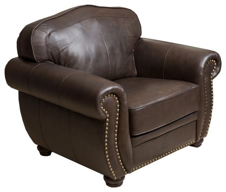 Caldwell Armchairs With 2019 Abbyson Living Palazzo Leather Armchair, Dark Brown (View 28 of 30)