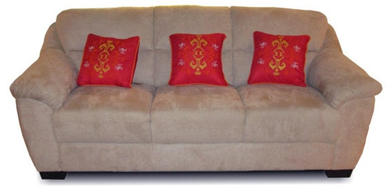 Caldwell Three Seater Sofa In Brown Intended For Most Up To Date Caldwell Armchairs (View 19 of 30)