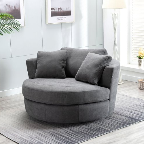 Caprisha Chaise Lounge Inside Fashionable Annegret Faux Leather Barrel Chair And Ottoman Sets (View 15 of 30)