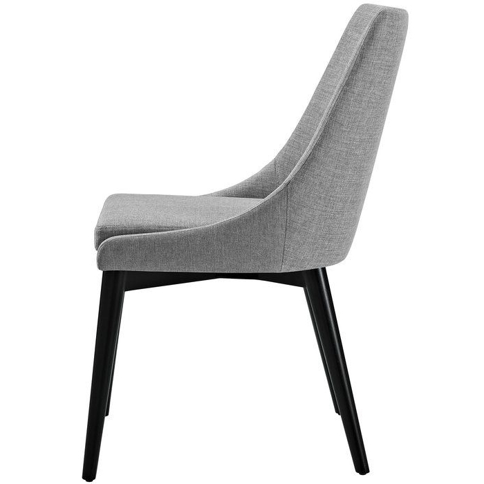 Carlton Wood Leg Upholstered Dining Chairs Pertaining To Preferred Carlton Wood Leg Upholstered Dining Chair (View 4 of 30)