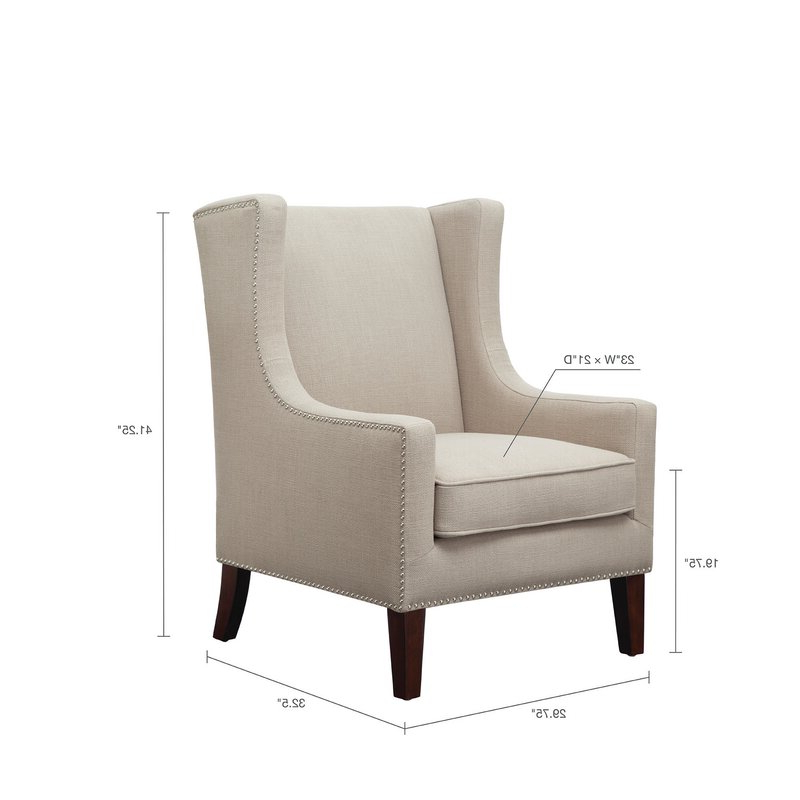 Chagnon Wingback Chair Throughout Trendy Chagnon Wingback Chairs (View 11 of 30)