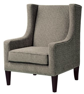 Chagnon Wingback Chair Upholstery Color: Multicolored Brown Pertaining To Famous Saige Wingback Chairs (View 27 of 30)