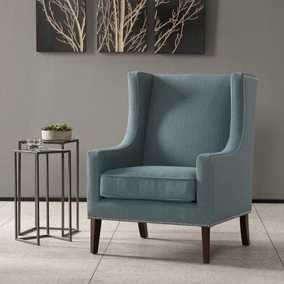 Charlton Home Chagnon Wingback Chair Upholstery Color: Slate Throughout Favorite Chagnon Wingback Chairs (View 12 of 30)