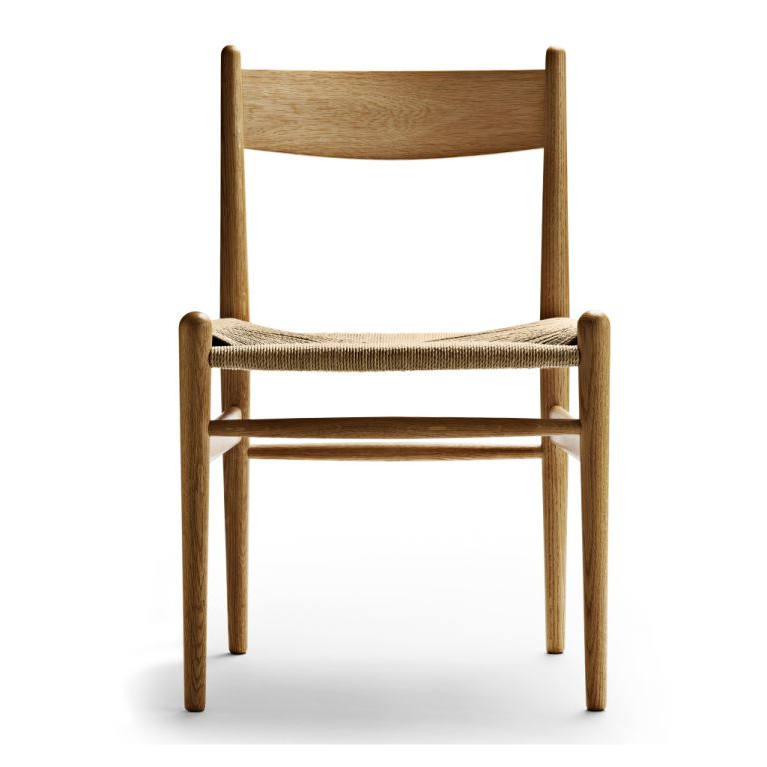Chiles Linen Side Chairs Regarding Most Up To Date Ch36 Dining Chair Oiled Oak & Natural Paper Cord (View 15 of 30)