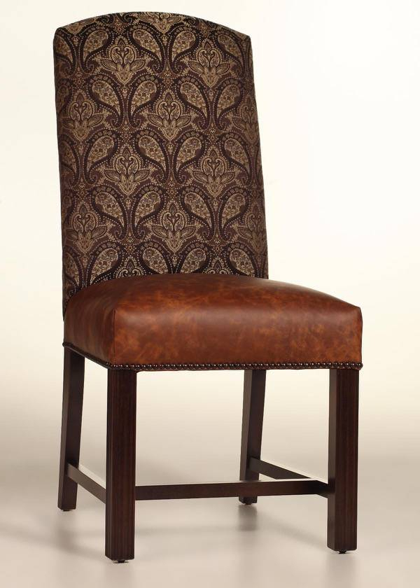 Chiles Linen Side Chairs With 2019 Cambridge Dining Chair With Leather Seat And Nailhead Trim (View 30 of 30)