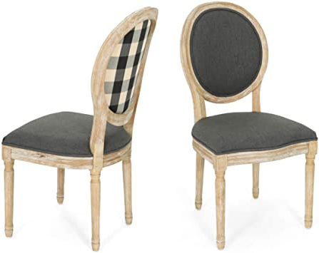 Christopher Knight Home 306409 Reed Upholstered Farmhouse Regarding Most Popular Madison Avenue Tufted Cotton Upholstered Dining Chairs (set Of 2) (View 19 of 30)