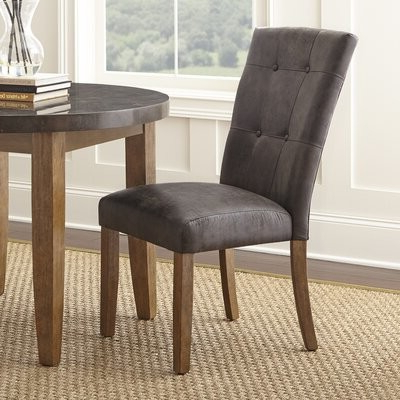 Chugwater Tufted Upholstered Side Chair Upholstery Color: Gray Within Well Known Bob Stripe Upholstered Dining Chairs (set Of 2) (View 10 of 30)