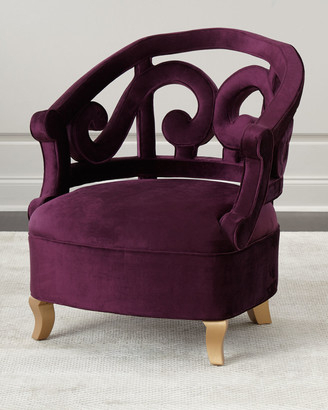Claudel Polyester Blend Barrel Chairs Within Well Known Plum Chair (View 11 of 30)