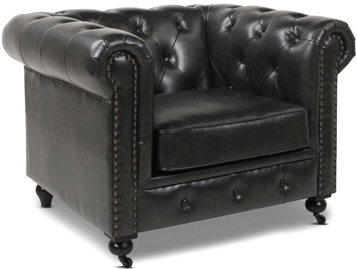 Cohutta Armchairs Inside Well Known Winston Leather Chesterfield Armchair (View 23 of 30)