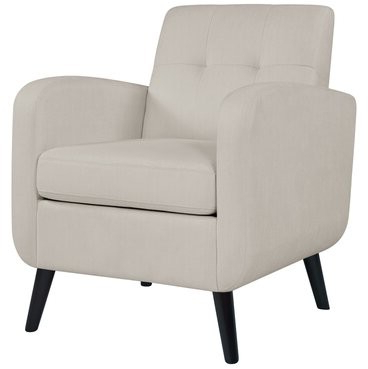 """Cohutta Armchairs With Well Known Legette Mid Century 20"""" Armchair Fabric: Off White (View 7 of 30)"""