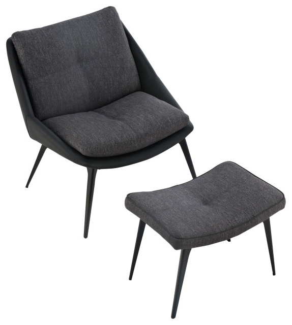 Columbus Armchairs In Well Known Columbus Lounge Chair And Ottoman, Dark Shadow Fabric (View 17 of 30)
