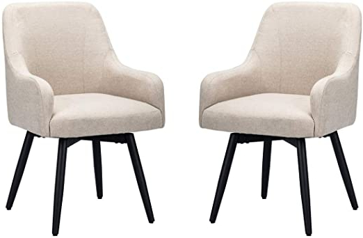 Contemporary Mordern Accent Chairs,upholstered Arm Chairs,living Room Kitchen Office Furniture Set Of 2 For Newest Brister Swivel Side Chairs (View 16 of 30)