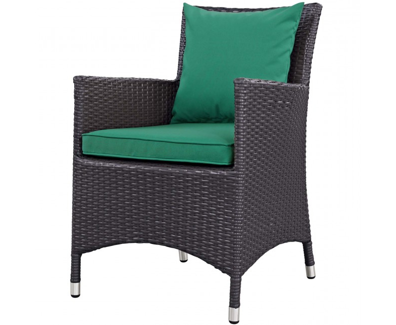 Convene Espresso Green Dining Outdoor Patio Arm Chair Eei 1913 Exp Grn Pertaining To Most Popular Haleigh Armchairs (View 26 of 30)