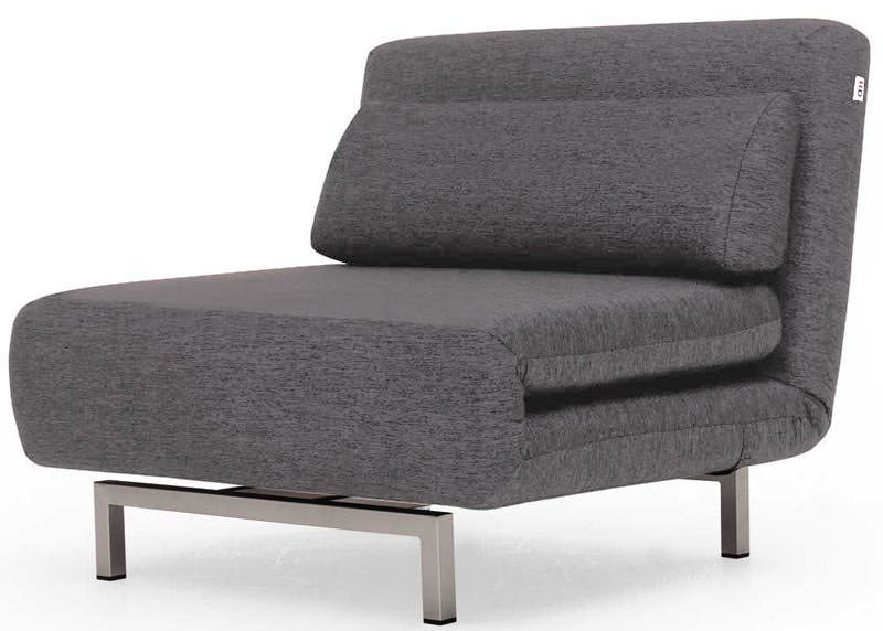 Convertible Charcoal Gray Fabric Chair Bed Lk06ido For 2019 Bolen Convertible Chairs (View 7 of 30)