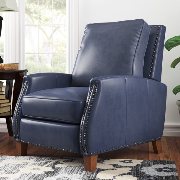Coomer Faux Leather Barrel Chairs With Regard To Famous Abeyta Manual Recliner (View 18 of 30)