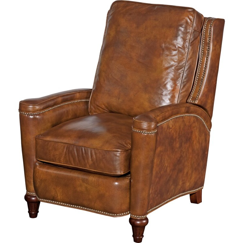 Coomer Faux Leather Barrel Chairs Within Fashionable Leather Manual Recliner (View 24 of 30)