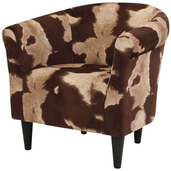 Cowhide Print, Club Chairs, Barrel Chair With Regard To Ronda Barrel Chairs (View 8 of 30)
