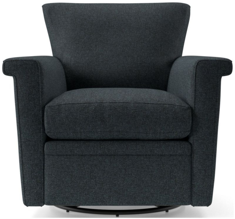 Crate And Barrel With Recent Hazley Faux Leather Swivel Barrel Chairs (View 25 of 30)