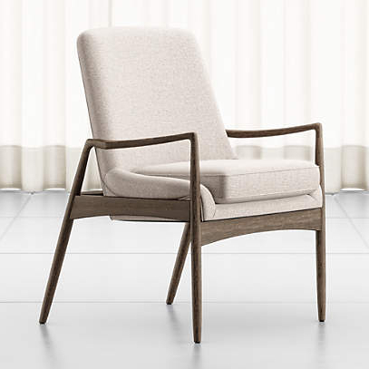 Crate And Barrel Within Preferred Danow Polyester Barrel Chairs (View 21 of 30)