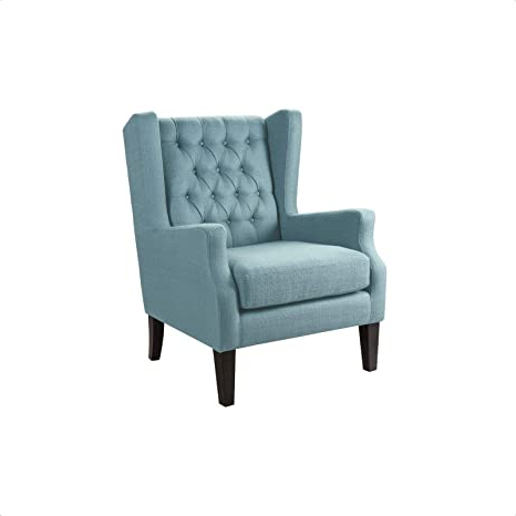 Current Allis Tufted Polyester Blend Wingback Chairs In Amazon: Allis Wingback Chair: Kitchen & Dining (View 3 of 30)