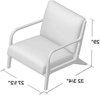 Current Amazon: Ronaldo Armchair, Ottoman: No, Seat Fill Regarding Ronaldo Polyester Armchairs (View 8 of 30)