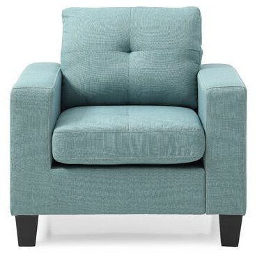 Current Buncombe Armchair Fabric: Teal Twill Pertaining To Maubara Tufted Wingback Chairs (View 28 of 30)