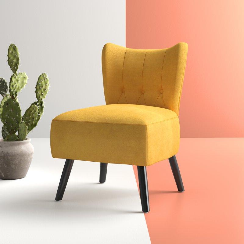Featured Photo of Easterling Velvet Slipper Chairs
