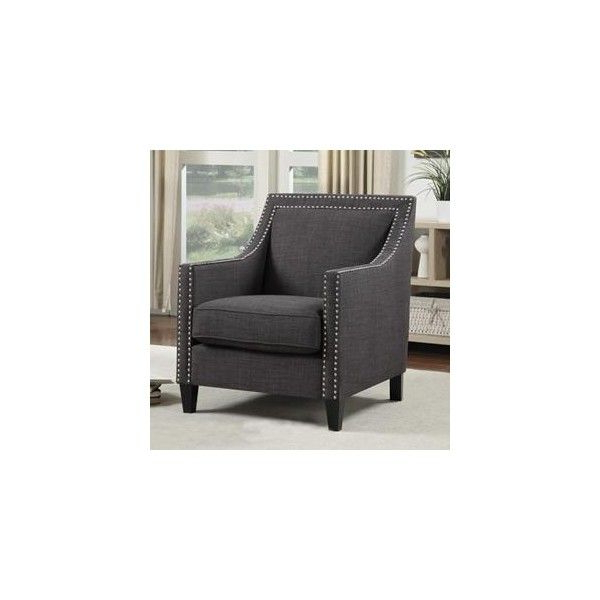 Current Erica Accent Chair With Walnut Leg In Heirloom Charcoal Regarding Sweetwater Wingback Chairs (View 23 of 30)