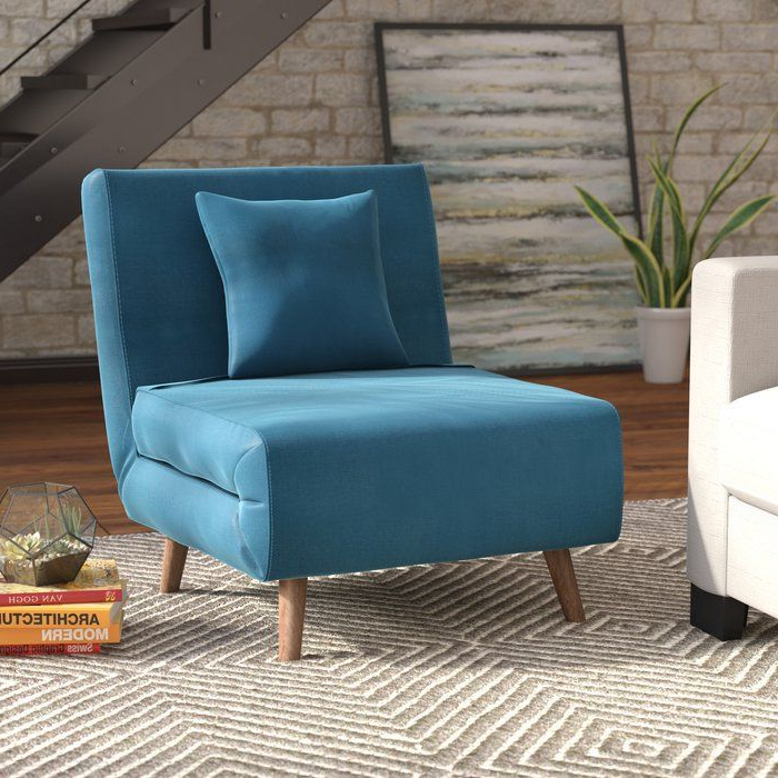 Current Hutchinsen Polyester Blend Armchairs In Wolfe Convertible Chair (View 14 of 30)