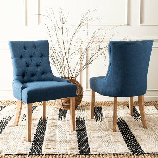 Current Madison Avenue Tufted Cotton Upholstered Dining Chairs (set Of 2) With Madison Park Dining Tufted Chair (View 2 of 30)