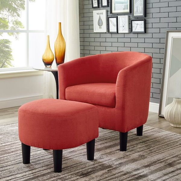 Current Orange Chair And Ottoman Inside Abbottsmoor Barrel Chair And Ottoman Sets (View 19 of 30)
