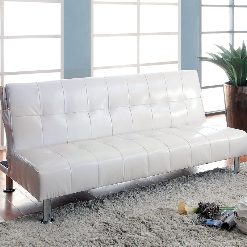 Current Perz Tufted Faux Leather Convertible Chairs For Perz Tufted Convertible Sofa (View 6 of 30)