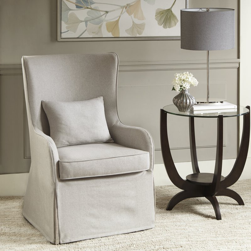Current Regis Wingback Chair Inside Lauretta Velvet Wingback Chairs (View 21 of 30)