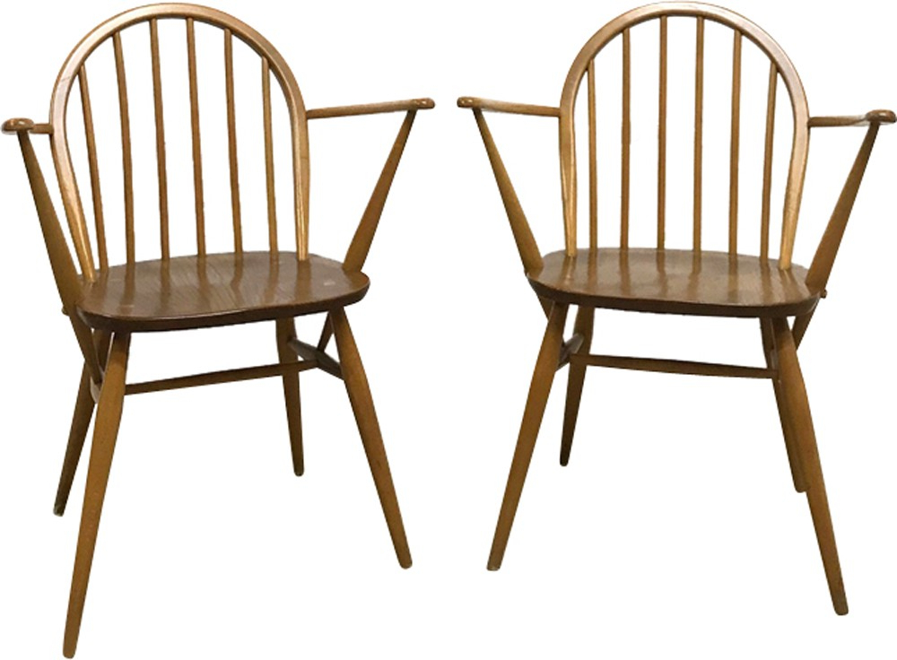 Current Set Of Two Mid Century Armchairs Windsor 370aercol Regarding Esmund Side Chairs (set Of 2) (View 26 of 30)