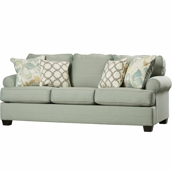 Current Starks Tufted Fabric Chesterfield Chair And Ottoman Sets Inside Sofas (View 15 of 30)