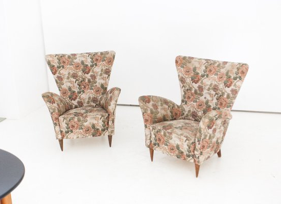 Customizable Italian Armchairs, 1950s, Set Of 2 Regarding 2020 Georgina Armchairs (set Of 2) (View 22 of 30)