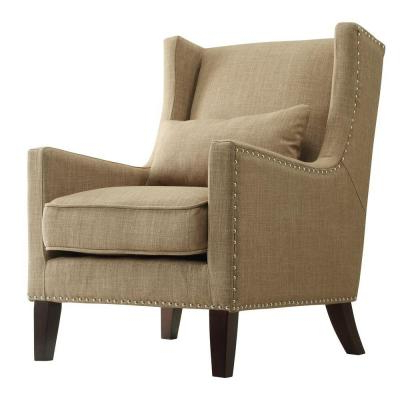Dallin Arm Chairs Intended For 2020 Brown – Tan – Accent Chairs – Chairs – The Home Depot (View 19 of 30)