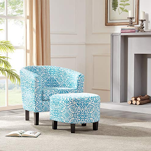 Danny Barrel Chairs (set Of 2) For Most Popular Accent Chair And Ottoman Sets Under $200 – Homeluf (View 14 of 30)