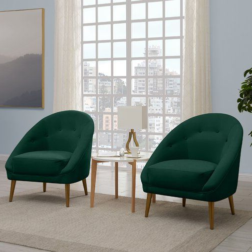 """Danny Barrel Chairs (set Of 2) Inside Current Danny 20"""" Barrel Chair (View 3 of 30)"""