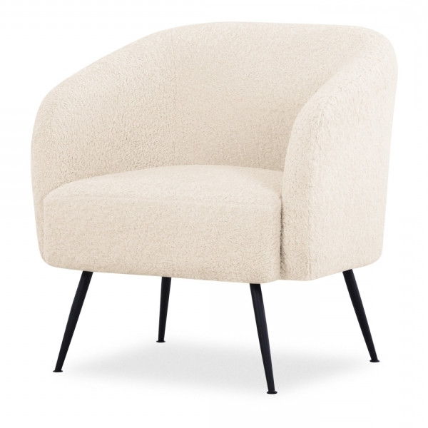 Dara Armchairs For Best And Newest Nashville Armchair, Boucle Upholstered, Cream (View 7 of 30)
