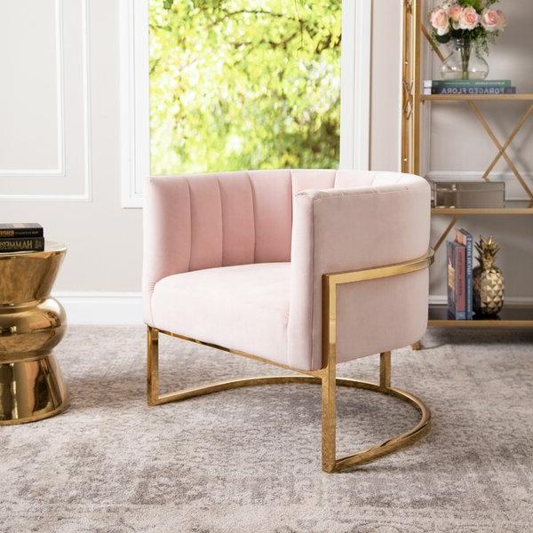 Daulton Velvet Side Chairs For Trendy Daulton Barrel Chair (View 8 of 30)