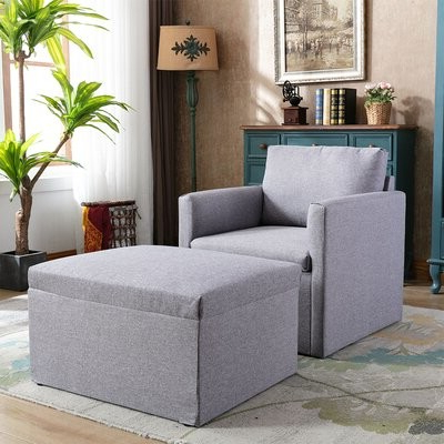 "Delyn 76"" W Armchair And Ottoman With Regard To Favorite Michalak Cheswood Armchairs And Ottoman (View 8 of 30)"