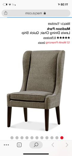 Dining Chairs, Dining, Chair For Latest Madison Avenue Tufted Cotton Upholstered Dining Chairs (set Of 2) (View 8 of 30)