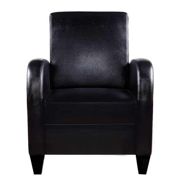 Distinction Leather Sleek Spring Chair In Famous Annegret Faux Leather Barrel Chair And Ottoman Sets (View 10 of 30)