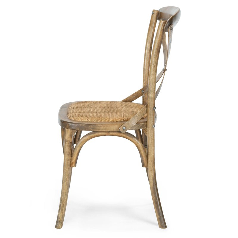 Dorcaster Barrel Chairs Pertaining To Most Recent Doncaster Crossback Solid Wood Dining Chair (View 22 of 30)